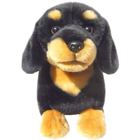 "Black & Tan Dachshund 12"" Quality Soft Toy Dog"